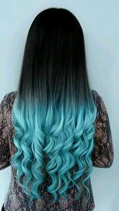 sensational blue ombre hair architecture-Terrific Blue Ombre Hair Portrait