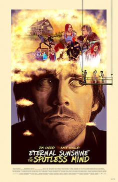 ► Eternal Sunshine of the Spotless Mind de Michel Gondry ► By Dave O'Flanagan Best Movie Posters, Cinema Posters, Movie Poster Art, Cool Posters, Film Posters, Michel Gondry, Isle Of Dogs, Eternal Sunshine, Cult