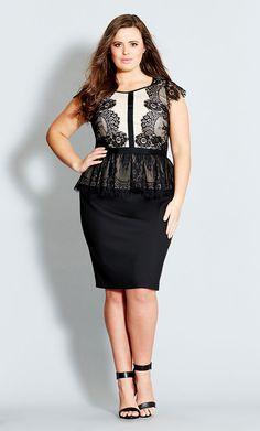 City Chic - LACE LANA DRESS  - Women's Plus Size Fashion