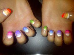 ombre nail art by Wah Nails