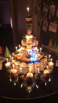 43 Ideas Birthday Cake Ideas For Boyfriend Diy Guys For 2019 Beer Birthday Party, 25th Birthday Gifts, Adult Birthday Cakes, Cake Birthday, 21st Bday Ideas, Birthday Decorations For Men, Birthday Surprise Boyfriend, Deco Table, Diy Cake
