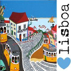 With Pascal Mercier Arte Popular, Landscape Illustration, Illustration Art, Sea Art, Naive Art, Illustrations, Travel Posters, Home Art, Drawing