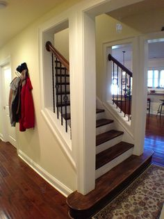 Best Open Staircase Enclosed Wall Before And After Before 400 x 300