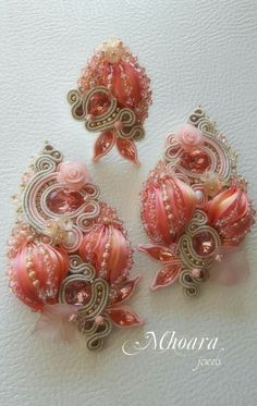 Shibori silk and soutache designed by Mhoara Jewels
