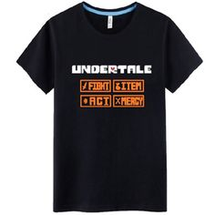 Undertale Screen menu Fight Act Mercy Item Gaming Game tee t-shirt