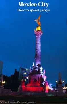 How to spend 4 days in Mexico City, Mexico.
