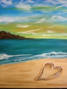 PINOT'S PALETTE STATEN ISLAND.  PAINT. DRINK. HAVE FUN. Heart in the Sand