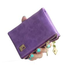 Fashion brand vintage women wallet new arrival high quality matte PU leather short wallet hasp