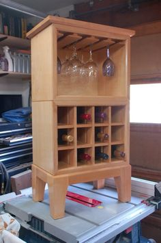 Wine Buffet Server - by dragondncr @ LumberJocks.com ~ woodworking community