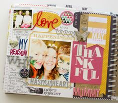 May prompts page close up in the Memory Planner. Kim Jeffress for Heidi Swapp #heidiswapp #heidiswapphellotoday