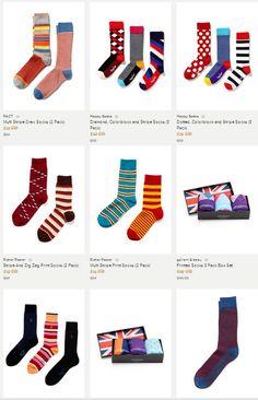 Statement men's socks from Robert Graham. AWESOME!!!