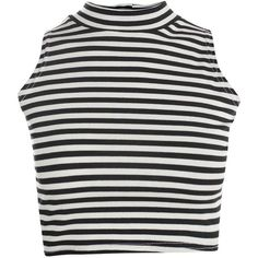 Boohoo Savannah High Neck Striped Crop Top ($14) ❤ liked on Polyvore featuring tops, crop tops, shirts, tank tops, turtle neck shirts, stripe shirt, stripe top, turtleneck shirt and crop top