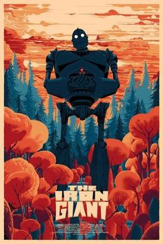 Iron Giant by Kilian Eng Poster Print Art Ltd x/100 Mondo Durieux Horkey Stout | eBay
