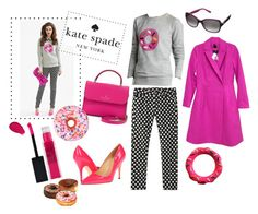 """""""kate spade inspired outfit"""" by lizzynupa ❤ liked on Polyvore featuring Kate Spade, Maybelline, Iscream, katespade and donut"""