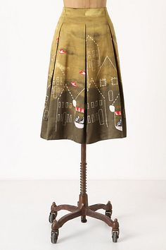 Anthropologie Feathered Village Skirt.  I don't know whether to covet this or sew it.