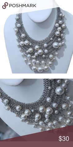 Handmade Pearl Neckless This handmade pearl neckless is a great addition to an evening outfit. Hs Jewelry Jewelry Necklaces