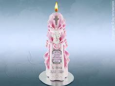 Taufkerze Taufspruch Schutzengel Junge Mädchen von Lenz  Kerzen auf DaWanda.com