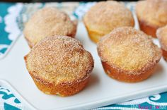 French Breakfast Puffs ~ sweet, tender muffins dipped in butter and cinnamon sugar | {Five Heart Home}