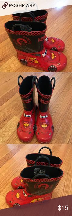 Selling this Boy's Cars Rain Boots Size 11/12 on Poshmark! My username is: volley4kix. #shopmycloset #poshmark #fashion #shopping #style #forsale #Other