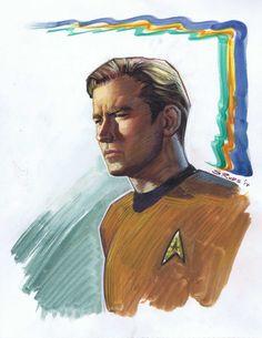 Star Trek - Captain Kirk by Steve Rude *