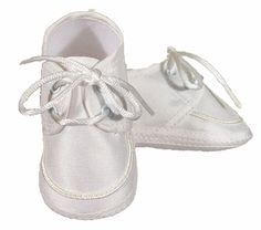 Baby Boys Girls White Lace Up Christening Shoes Booties Bow 0-3 Months