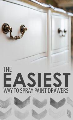 Learn these spray painting tips before you make your next DIY project or tackle home improvement ideas on your list. Easy tricks for spray painting. Spray Paint Furniture, Furniture Makeover, Painted Furniture, Furniture Projects, Diy Furniture, Diy Projects, Furniture Refinishing, Project Ideas, Furniture Plans