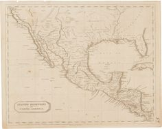 "Aaron Arrowsmith and Samuel Lewis. Spanish Dominions in North America. [Boston]: [Thomas & Andrews, 1812]. Measuring 10.5"" x 8.25"", this detailed map shows the Spanish lands held in the southern and western portions of North America, Central America and the Gulf of Mexico."