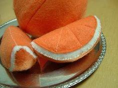 felt food - oranges