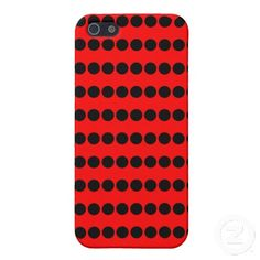 Black and Red Polka Dots Pattern Cases For iPhone 5 Cool Iphone Cases, Iphone Case Covers, Create Your Own, Polka Dots, Cool Stuff, Red, Pattern, Black, Design