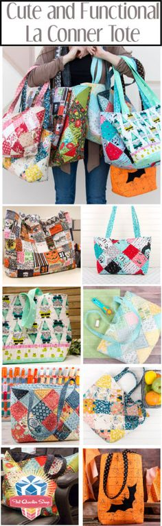BLOG REMIX - La Conner Tote - The Jolly Jabber Quilting Blog Bag Patterns To Sew, Sewing Patterns, Fat Quarter Shop, Quilt Kits, Couture, Bag Making, Purses And Bags, Creations, Quilting