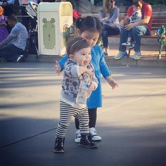 Ava was so sweet today making sure Olive didn't fall and get hurt while walking  by maria_leslie