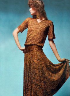 Missoni Photo by Barry Lategan Vogie Italia 1971