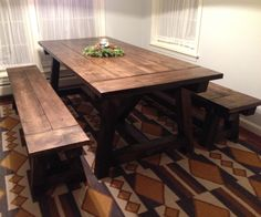 We built a rustic farmhouse table for our dining room. In this instructable I'll list out the steps for building the benches that went with the table. I went with...