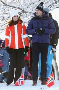 Prince William Photos - Prince William, Duke of Cambridge and Catherine, Duchess of Cambridge attend an event organised by the Norwegian Ski Federation, where they join local nursery children in a number of outdoors activities at Holmenkollen ski jump on day 4 of their visit to Sweden and Norway on February 2, 2018 in Oslo, Norway. - The Duke And Duchess Of Cambridge Visit Sweden And Norway - Day 4
