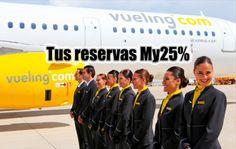 25% de descuento en tus vuelos si eres socio de Vueling
