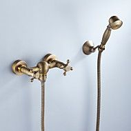 Tub Faucet Antique Brass Finish with Hand Shower – AUD $ 116.44