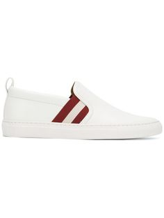 BALLY Stripe Slip-On Trainers. #bally #shoes #sneakers