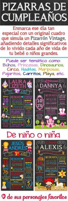 Pizarra Para Cumpleaños Pizarron Vintage Cartel Banner - $ 275.00 en MercadoLibre: