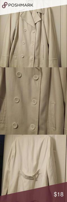 Cream Pea Coat Size XXL Peacoat Old Navy Jackets & Coats Pea Coats