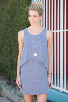 Kerian Striped Layer Dress