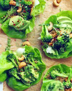 Dinner for One: Cashew Broccoli & Quinoa Lettuce Cups