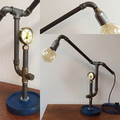 Stoere steampunk lamp.