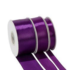 Ruban de satin violet 38 mm Longueur 25 m