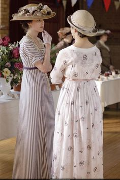 Michelle Dockery as Lady Mary Crawley and Jessica Brown Findlay as Lady Sybil Crawley