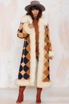 Vintage Brave the Elements Suede Coat