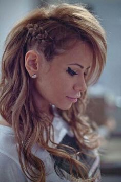 Love this cool hairstyle