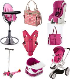 Think pink! Great gear for moms with style. #pink #strollers