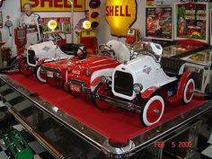pedal cars...I Love these...Brought to you by #House of #insurance #Eugene, #Oregon #97401 #Best #autorates in #eugene #call for a #free #quote 541-345-4191