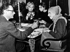 On February 5, 1959 Marilyn Monroe, Karen Blixen, and Carson McCullers had lunch in Nyak, NY. Arthur Miller was there, too, hosted by McCullers in honor of Karen, aka Isak Dinesen
