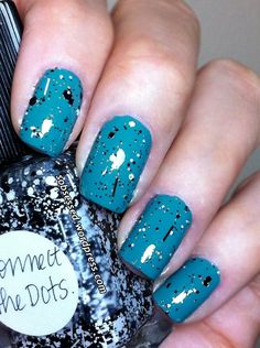 Never heard of connect the dots nail polish but I like it more than the shattered or other looks out there